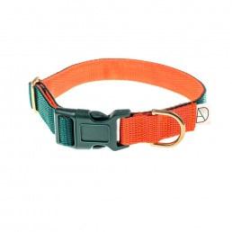 doggie apparel forest & orange dog collar
