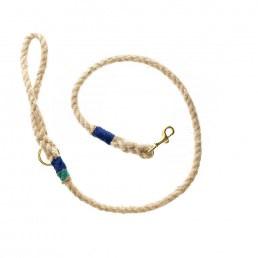 Doggie Apparel Natural Rope Dog Lead 'Marine'