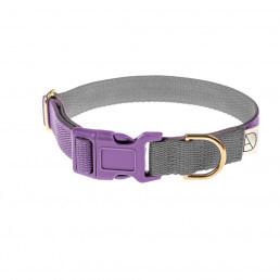 mauve dog collar / grey dog collar / purple dog collar